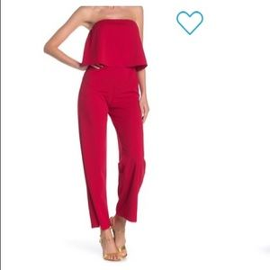 Love...Ady Strapless Top Popover Jumpsuit